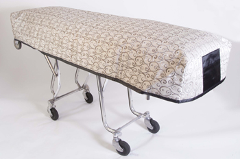 Cot Cover Middleton Silver